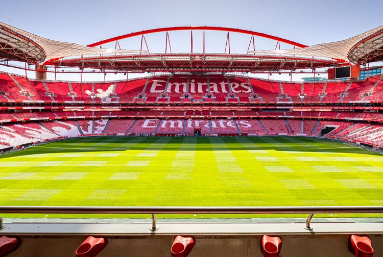 Imagem do estádio de Benfica. Foto: Divulgação/Benfica