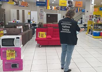 . A ação ocorreu após a confirmação de dois funcionários com coronavírus. Foto: Divulgação/Prefeitura de Sapucaia do Sul