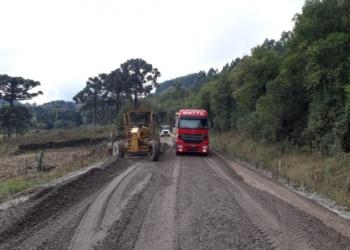 Expectativa é de que a pavimentação seja concluída no fim de julho. Foto: Divulgação/Daer