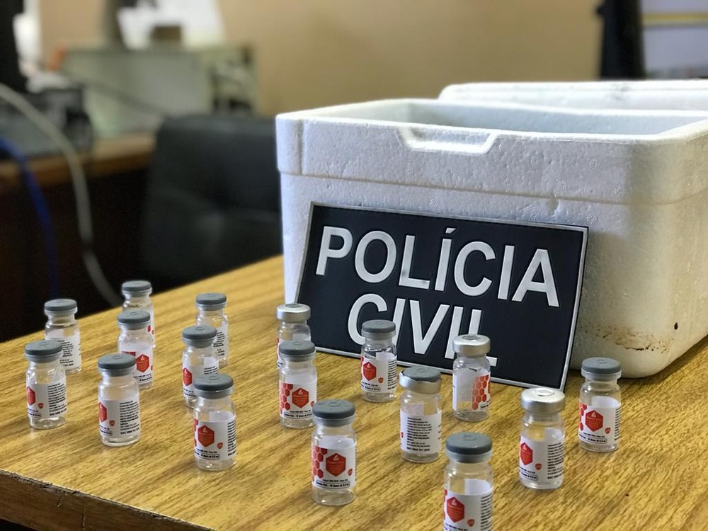 Polícia Civil aguarda perícia para saber conteúdo de 300 vacinas comercializadas em cidades do Norte do RS. Foto: Divulgação/Polícia Civil
