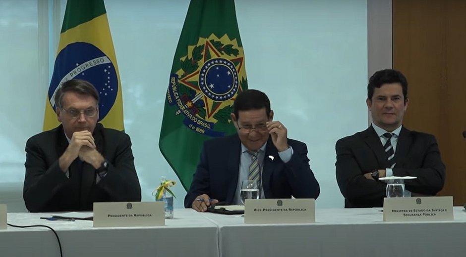 Imagem do vídeo da reunião ministerial. Foto: reprodução