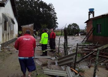 Temporal causou estragos no interior de Camaquã. Foto: Prefeitura de Camaquã/Divulgação