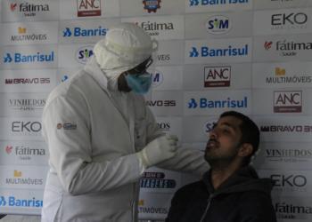Membros da direção, comissão técnica, atletas e funcionários realizaram a testagem. Foto: Vitor Soccol/Divulgação