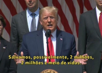 Foto: reprodução / GloboNews/ Pool White House