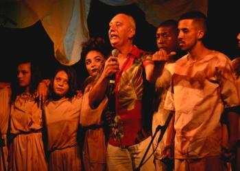 Grupo de Teatro do Instituto Estadual de Educação Juvenal Miller. Foto: Fernando Halal/Secom/Furg