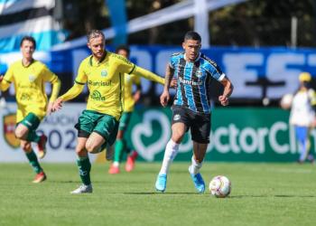 Lance da partida entre Grêmio e Ypiranga disputada na manha deste domingo. Foto: Lucas Uebel/Divulgação