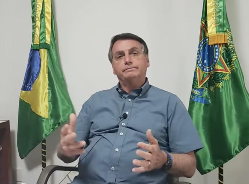 Presidente do Brasil, Jair Bolsonaro. Foto: Reprodução/Youtube