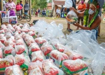 Alimento produzido pelos assentamentos e cooperativas vão para as periferias e são entregues de trabalhador para trabalhador. Foto: Leandro Molina/Divulgação