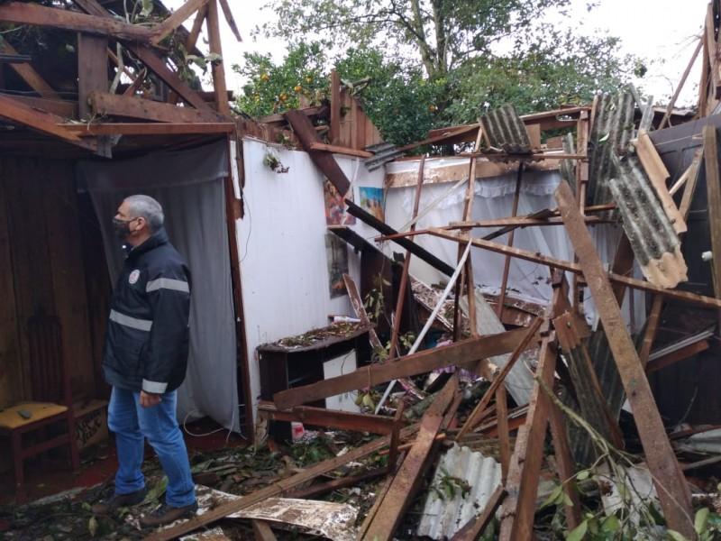 Ciclone-bomba causou estragos no Rio Grande do Sul. Foto: Divulgação/Defesa Civil