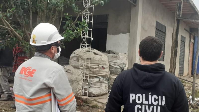 A ação ocorreu no bairro Santos Dumont. Foto: Divulgação/Polícia Civil
