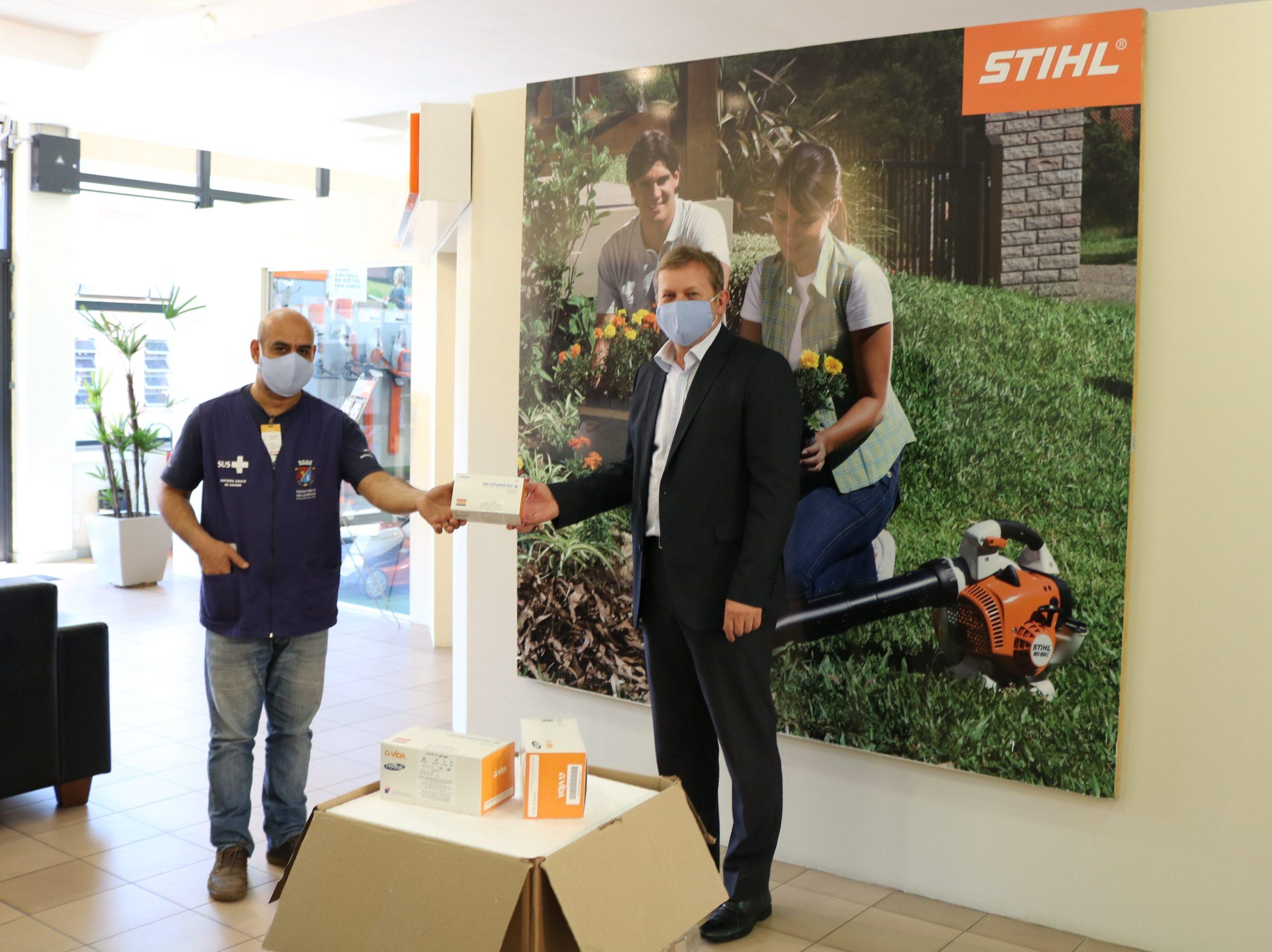 A entrega foi realizada na sede da empresa. Foto: Divulgação