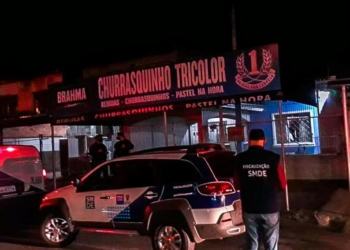 Prefeitura de Porto Alegre e Brigada Militar realizam ação de fiscalização durante Gre-Nal. Foto: SMDE/PMPA/Divulgação