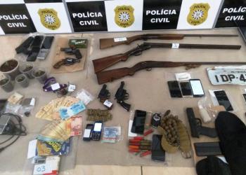 Operação Rajada II desarticulou organização criminosa envolvida em tráfico de drogas e furto e roubo de veículos em Getúlio Vargas. Foto: Polícia Civil/Divulgação