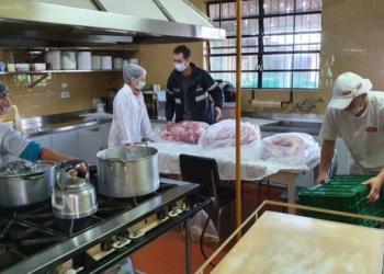 A carne foi inspecionada por um médico veterinário. Foto: Divulgação/Seapdr