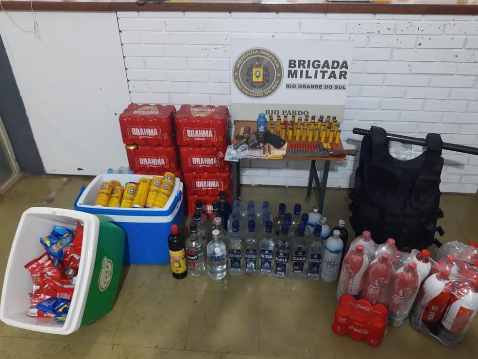 Material apreendido pela Brigada Militar. Foto: Divulgação/BM