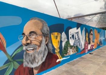 Muro pintado para o Grupo Cortel