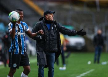 Lance do Gre-Nal na Arena. Foto: Lucas Uebel/Grêmio