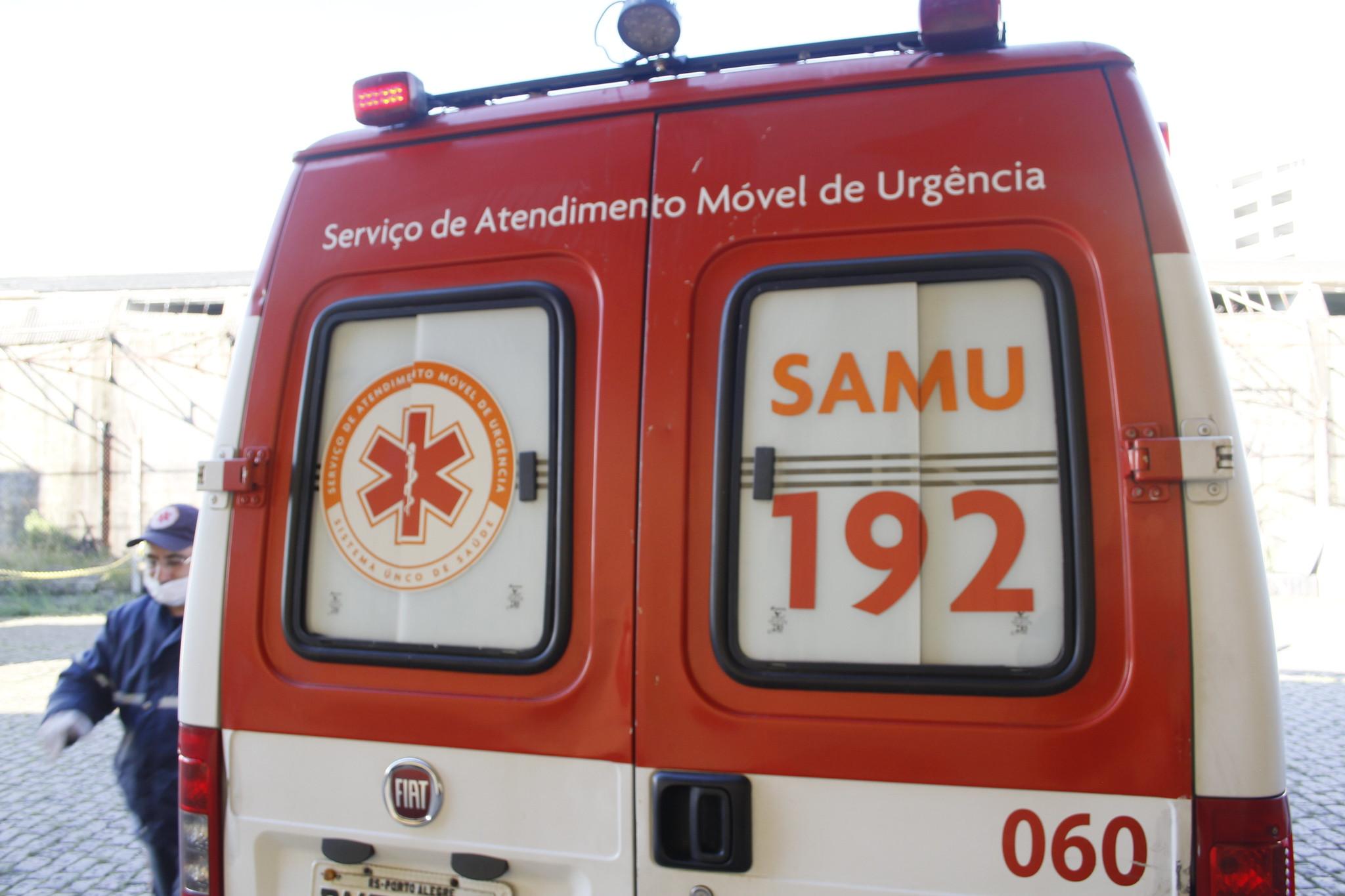 Ambulância do Samu. Foto: SMS / PMPA
