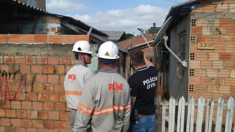 Operação Apagão foi realizada no bairro Harmonia. Foto: Divulgação/Polícia Civil