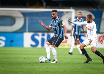 Maicon foi substituído ao 16 minutos do segundo tempo no jogo contra o Bragantino. Foto: Lucas Uebel/Grêmio