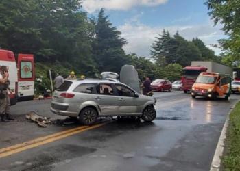 Imagem do acidente. Foto: Divulgação/Corpo de Bombeiros de Gramado