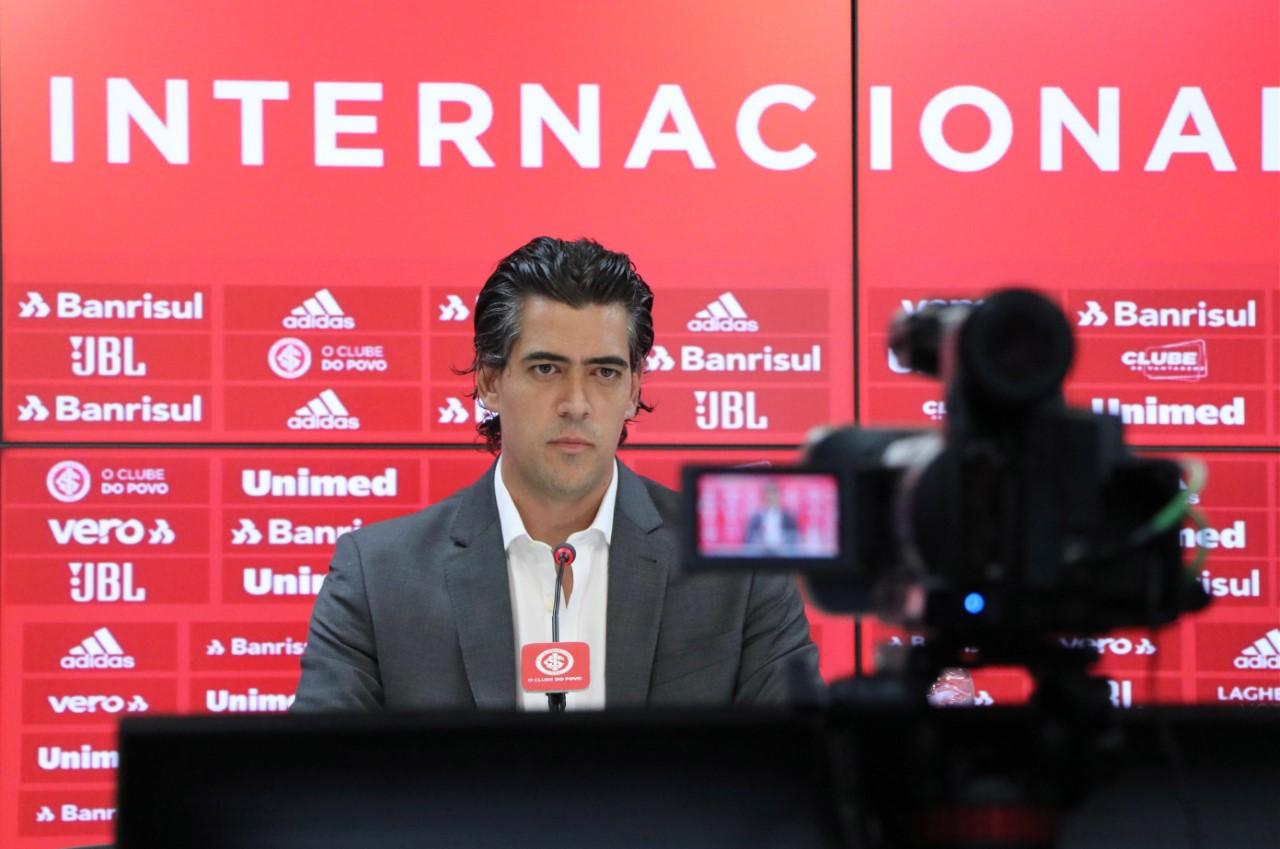 Profissional falou dos pilares que irão orientar a gestão do futebol. Foto: Ricardo Duarte/Divulgação