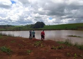 Local onde o jovem se afogou. Foto: Divulgação/Corpo de Bombeiros de Vacaria