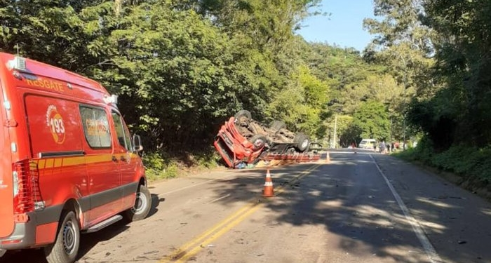 Trecho do km 146 ficou isolado para perícia. Foto: Divulgação/CRBM
