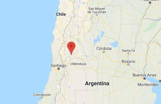 Localização do epicentro  de tremor de terra. Foto: Google Maps