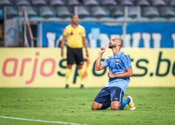 Thaciano foi o autor do único da partida. Foto: Lucas Uebel/Grêmio