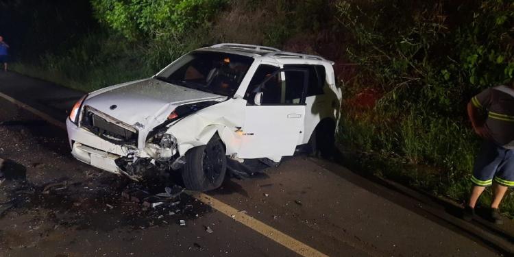 Veículo envolvido em acidente em Guaporé — Foto: Divulgação /Comando Rodoviário da Brigada Militar