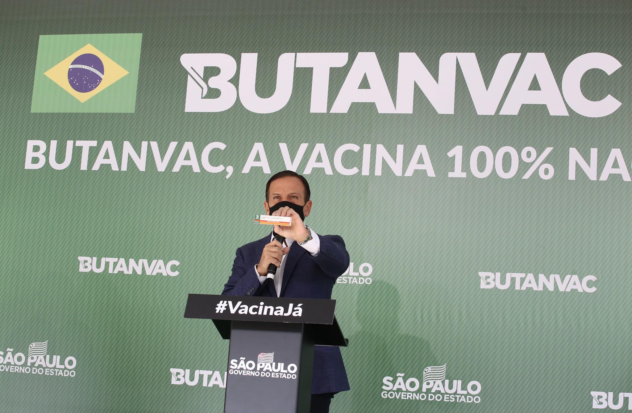o governador de São Paulo, João Doria,  afirmou que há condições de oferecer 40 milhões de doses e começar a imunizar a partir de julho.  Foto: Governo do Estado de São Paulo