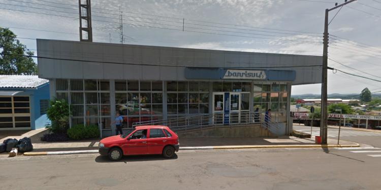 Agência do Banrisul em Alpestre. Foto: Google Street View/ Divulgação