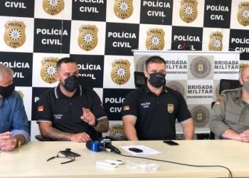 Coletiva de imprensa sobre a prisão do autor da ameça de bomba no Prédio da Prefeitura de Esteio. Foto: Polícia Civil / DP Esteio