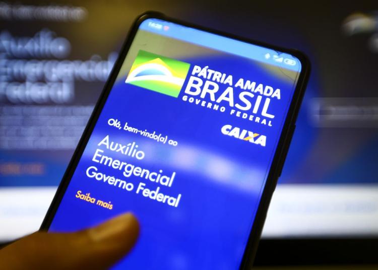 Aplicativo auxílio emergencial do Governo Federal. Foto: Marcelo Camargo/ Agência Brasil