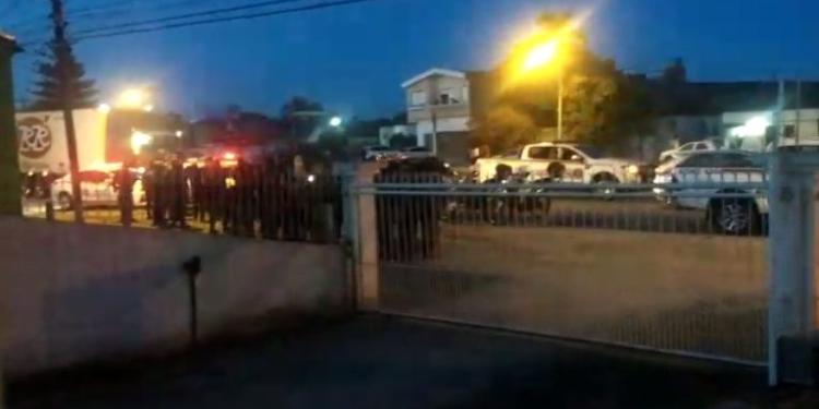 BM fez buscas aos assaltantes que mataram policial. Foto: divulgação / Brigada Militar