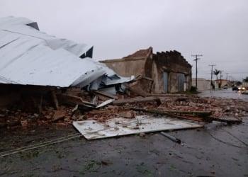 Estragos do temporal em Jaguarão. Foto: Divulgação/DP