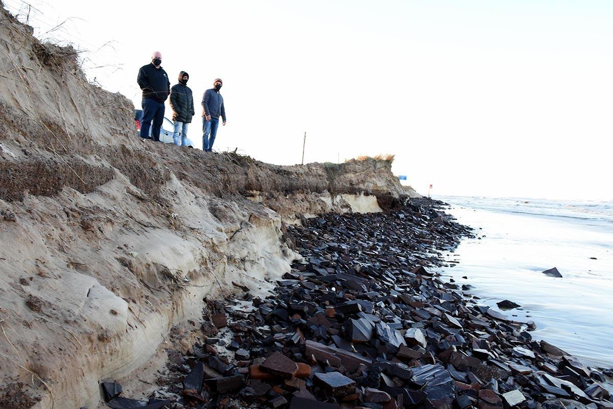 Os maiores estragos foram concentrados em um trecho da Interpraias, via que liga Imbé a Osório. Foto: Ivan de Andrade/Prefeitura de Imbé
