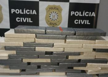 Imagem da droga que foi apreendida. Foto: Divulgação/Polícia Civil
