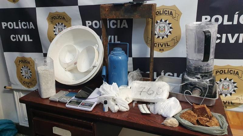 Material apreendido durante a ação. Foto: Divulgação/Polícia Civil