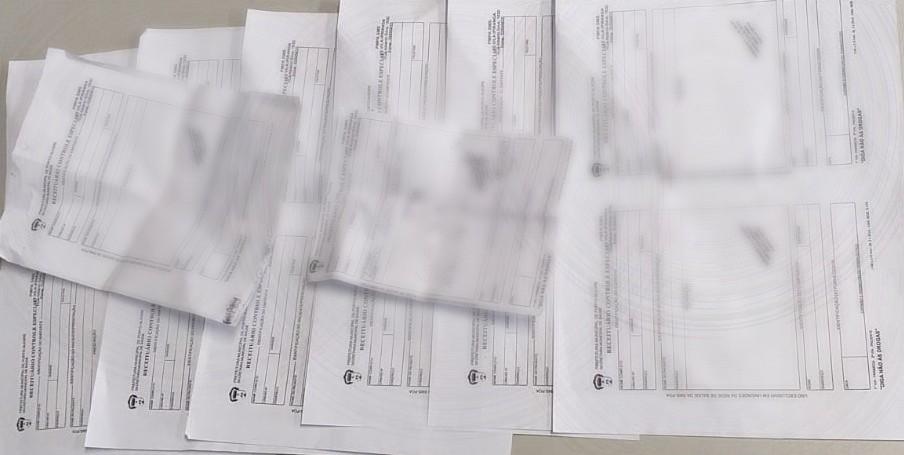 Receitas falsas eram usadas no esquema. Foto: Polícia Civil / Divulgação