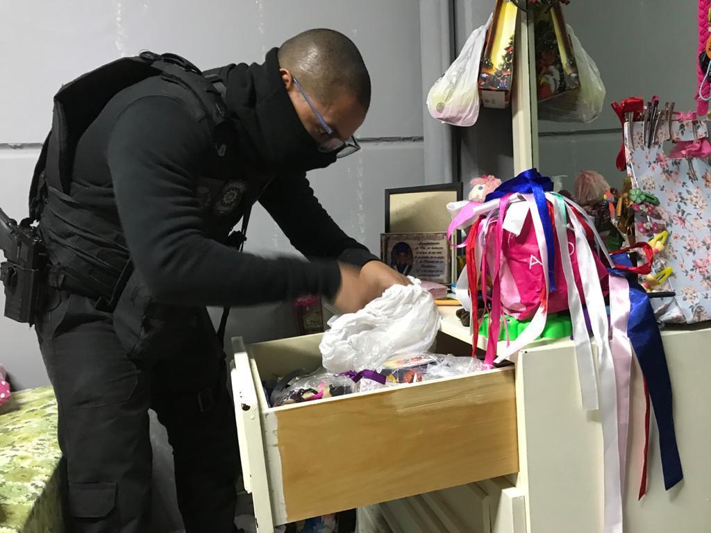Buscas da Operação Cidade de Deus. Foto: Polícia Civil / Divulgação