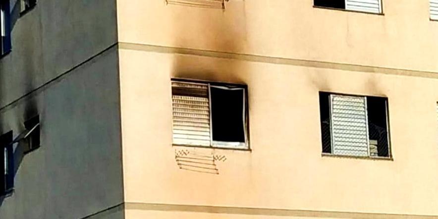 Homem ateou fogo com um galão de gasolina. Foto: Polícia Civil/Divulgação