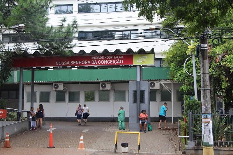 Entrada do Hospital Conceição. Foto: Grupo Hospitalar Conceição