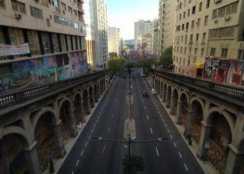 Imagem no centro de Porto Alegre. Foto: Rosana Klafke/Sem Roteiro/Agora no RS