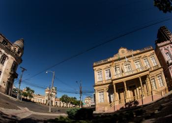 Área central de Pelotas, na região Sul do Estado. Foto: Gustavo Vara / Prefeitura de Pelotas